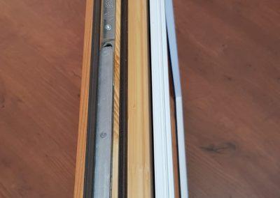 Ferestre lemn stratificat - cadru din aluminiu
